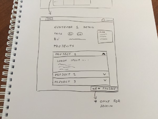 Our web app interface